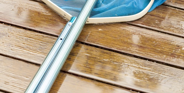 washing and repairing a deck