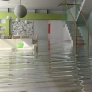 Damage control for a house flood