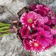 DIY instructions for a Gerbera daisy wedding bouquet