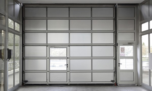 Overhead Sectional Door With Man Door : The benefits of adding a pedestrian door to your garage