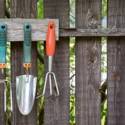 Make your own garden tool rack