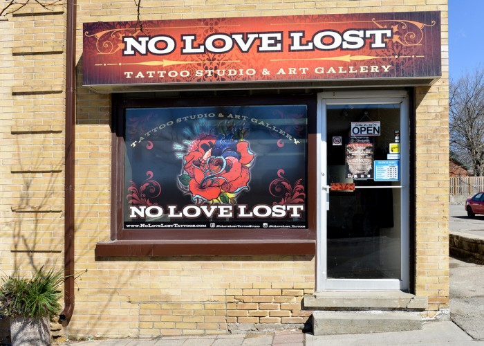 No love lost tattoos inc bowmanville business story for Local tattoo shops near me