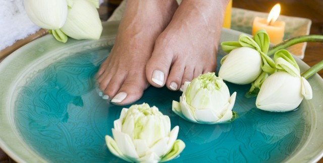 Relaxing and luxurious DIY pedicure