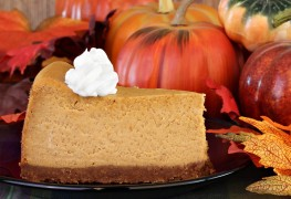 Fall delight: Pumpkin-ginger cheesecake