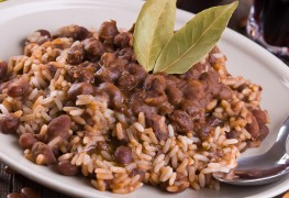 Saucy red beans and rice
