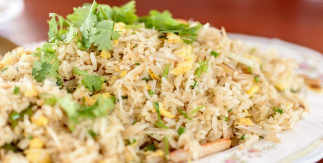 Dinner tonight: scallop and scallion fried brown rice