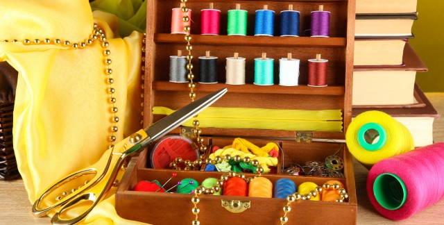 Sewing tips for baskets, buttons and patches