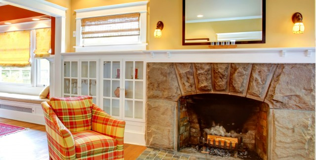 Get fired up: inexpensive ways to update a stone fireplace