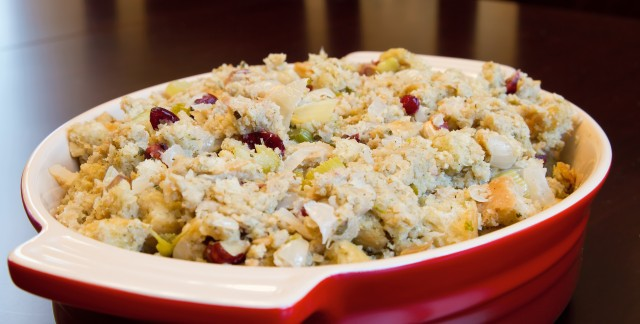 Thanksgiving treat: wild rice stuffing and cranberry relish