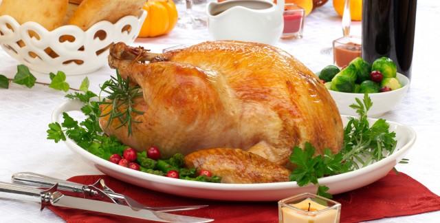 Dinner tonight: Ligurian holiday turkey with herbed gravy