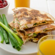 Recipe for terrific turkey quesadillas