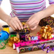 Tips for creating gift wrap for & with kids