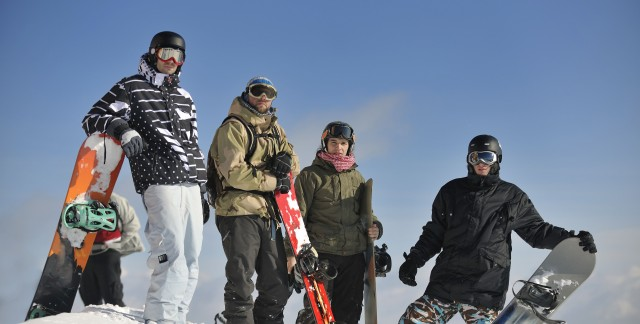 Finding safety equipment for snowboarding