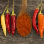 Herbes et épices curatives: piment de Cayenne, muscade, sauge