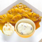 Variante sur la banane flambé : l'ananas flambé