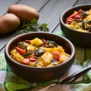 Recette de casserole de courges et d'aubergines