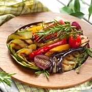 Légumesd'accompagnement: légumes grillés auvinaigre balsamique
