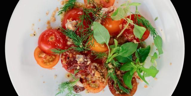 Recette succulente decanard mariné et salade de kacha