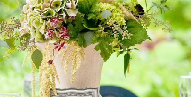 Préparer un centre de table pour votre mariage