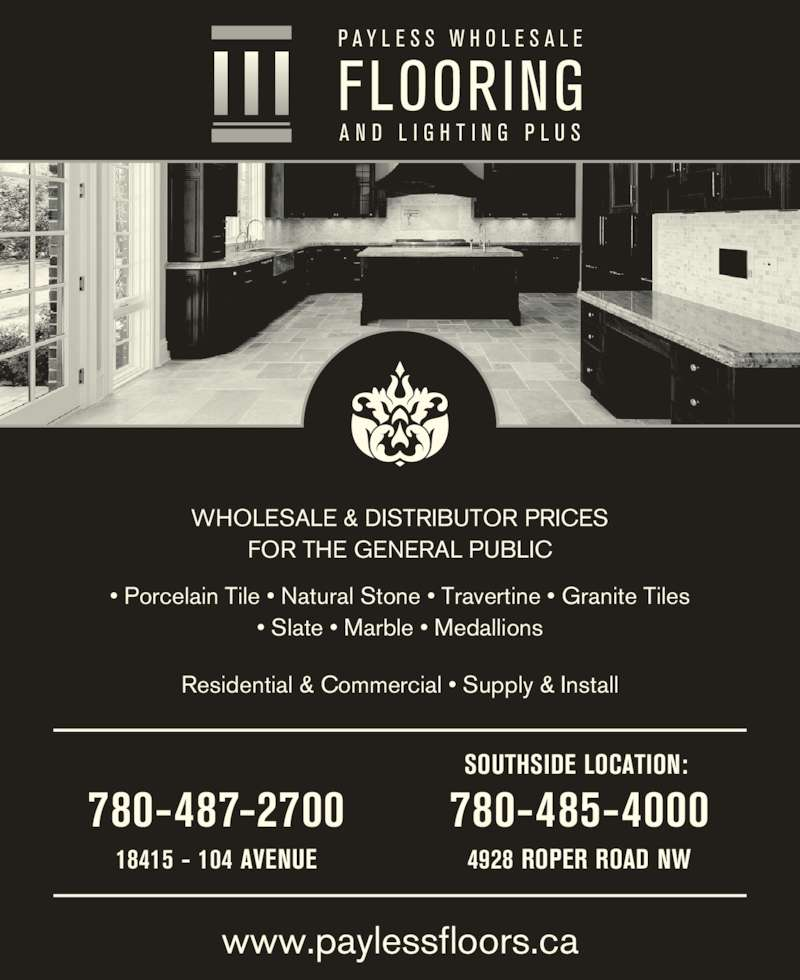 Payless Wholesale Flooring Amp Lighting Plus Inc Edmonton