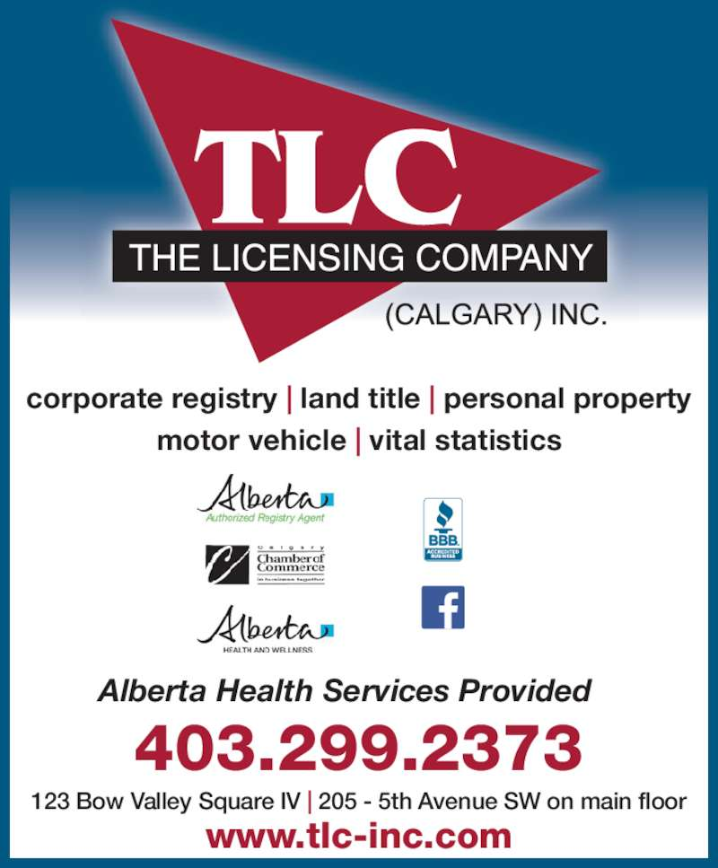Licensing Company Calgary Inc The Calgary Ab 123