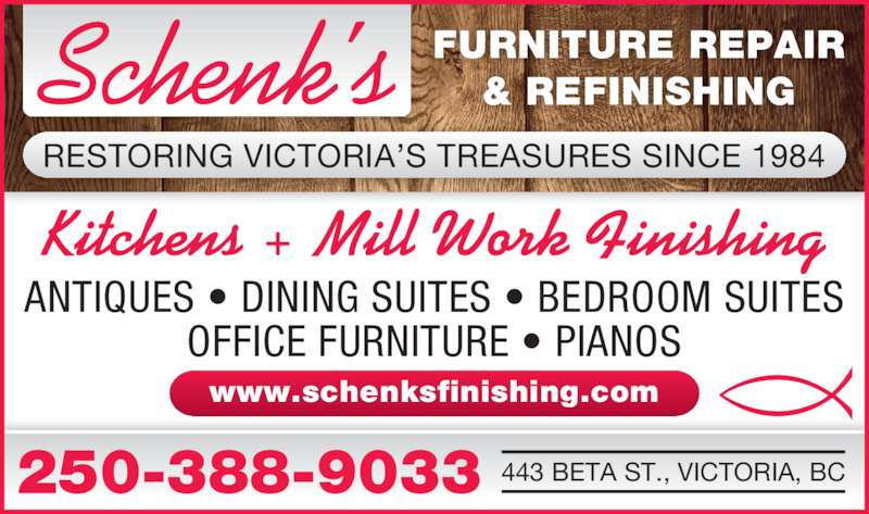 Schenk 39 S Furniture Repair Refinishing Victoria Bc 443 Beta St Canpages