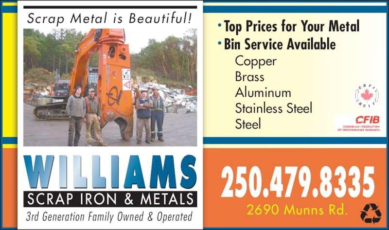Williams Scrap Iron Amp Metals Victoria Bc 2690 Munns
