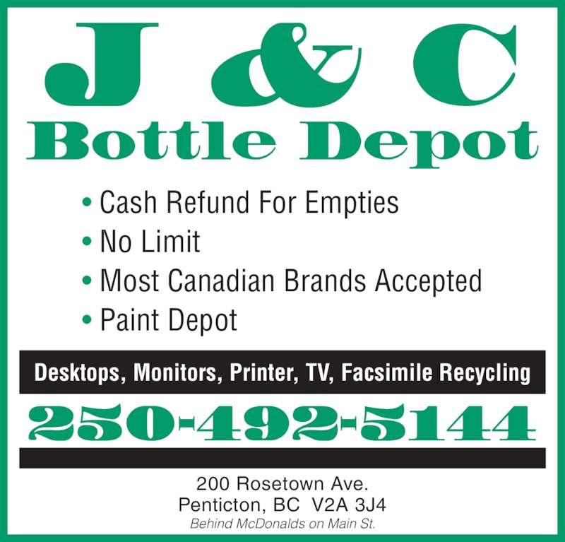 Ads J&C Bottle Depot