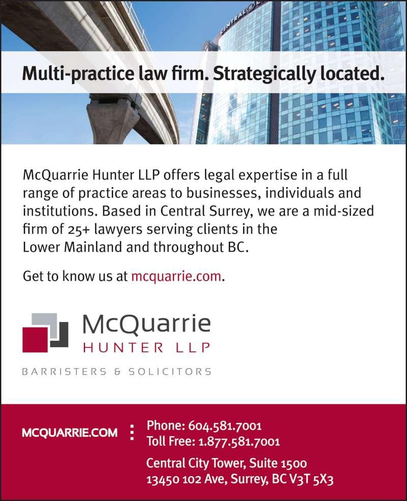 McQuarrie Hunter LLP (6045817001) - Display Ad -