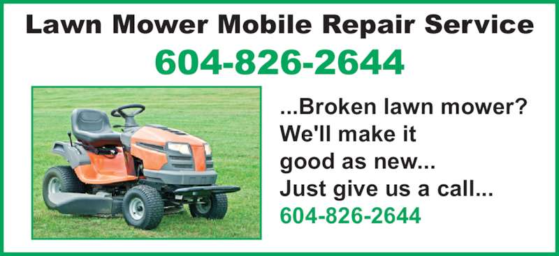Lawn Mower Mobile Repair Service 33261 Whidden Ave