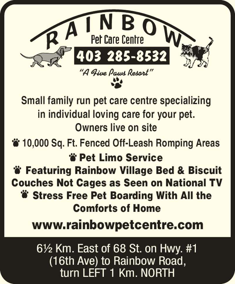 rainbow pet care centre   calgary ab   244173 range rd