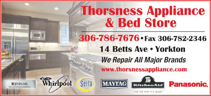 Thorsness Appliance Yorkton Sk 14 Betts Ave Canpages