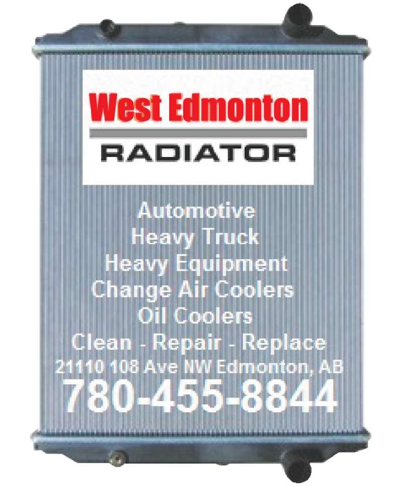 West Edmonton Radiator (780-455-8844) - Display Ad -