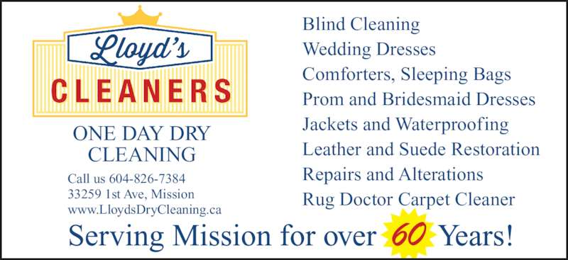 Lloyds Cleaners Mission BC 33259 1st Ave Canpages