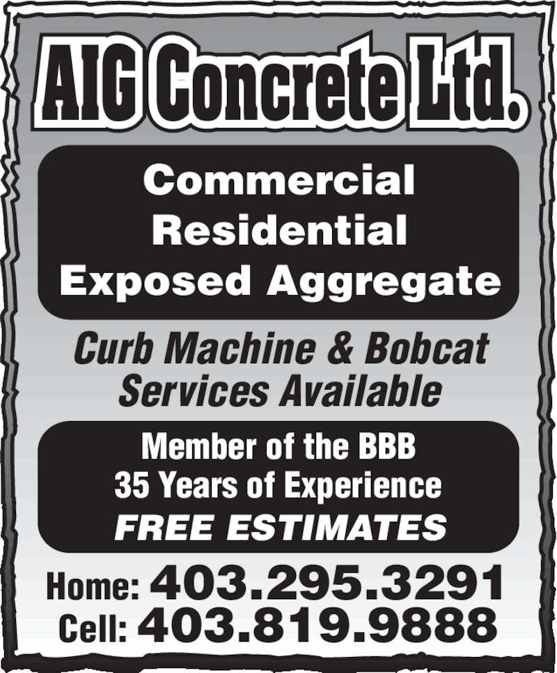 Ads AIG Concrete & Construction