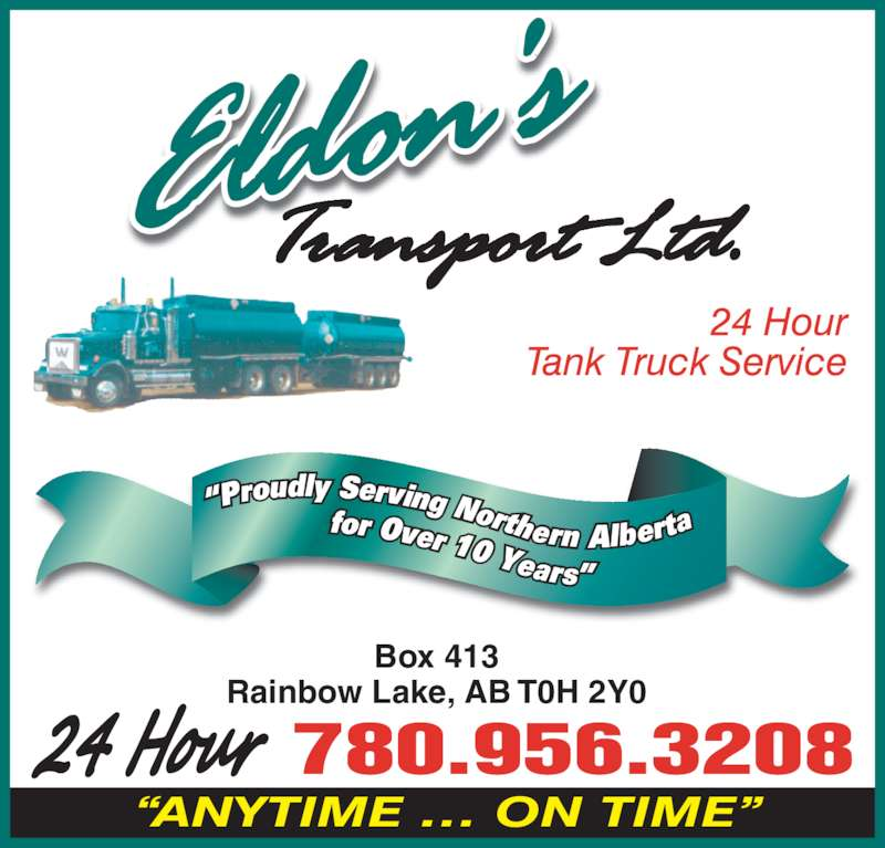 Eldon 39 s transport ltd rainbow lake ab 4 olson rd for 24 hour tanning salon near me