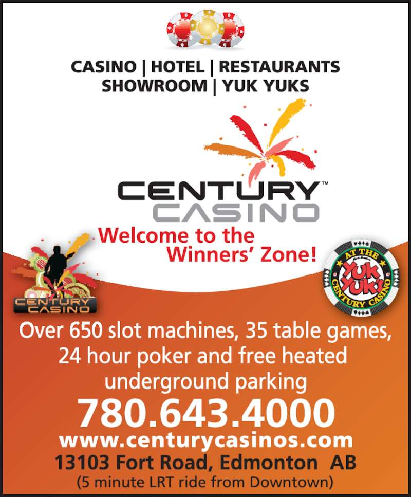 Century casino poker room calgary
