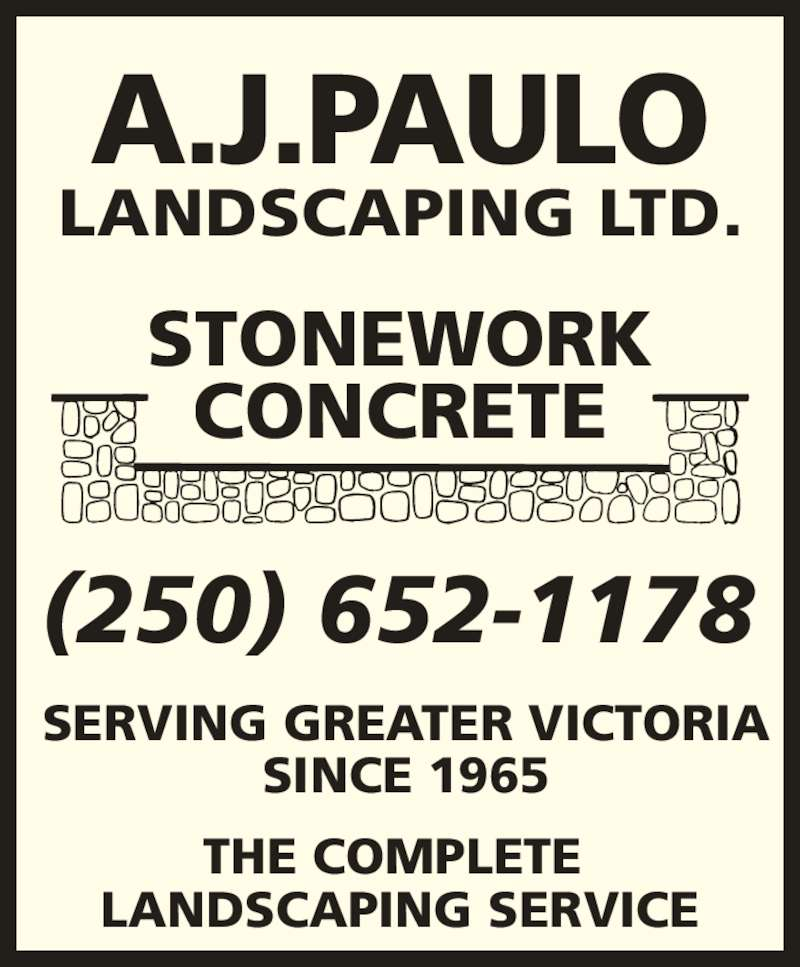 A j paulo landscaping ltd brentwood bay bc 1196 for Landscape limited