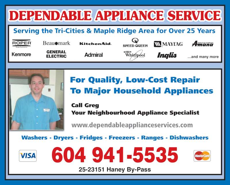 Dependable Appliance Service Opening Hours