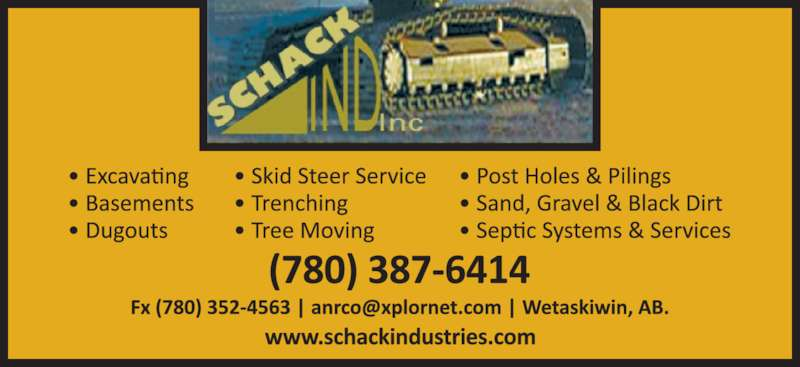 Schack Industries Inc (780-387-6414) - Display Ad -