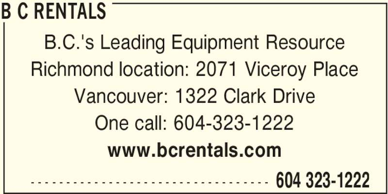 B C Rentals Vancouver Bc 1322 Clark Dr Canpages