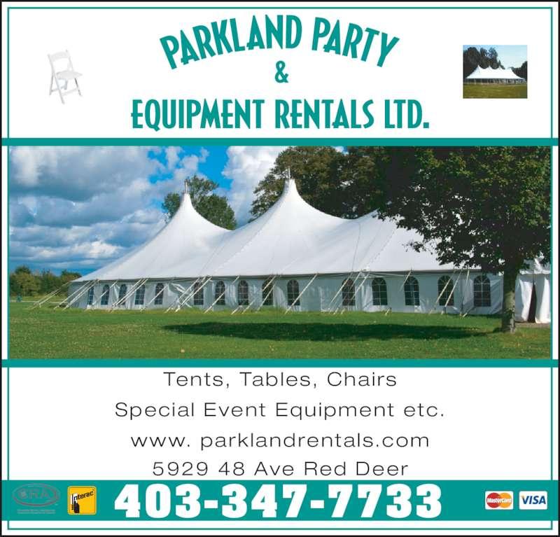 Parkland Party Amp Equipment Rentals Ltd Red Deer Ab