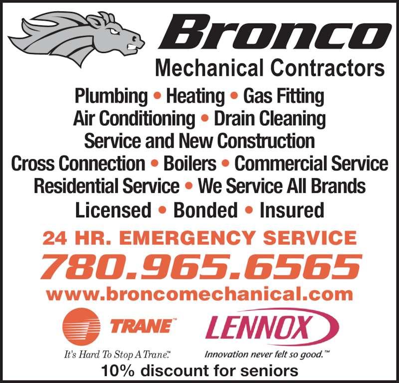ad Bronco Mechanical Contractors