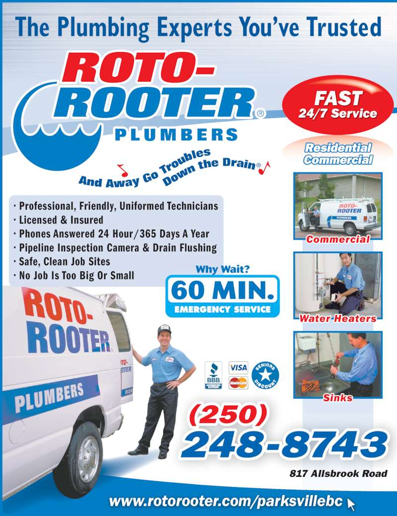 Roto Rooter Sewer Amp Drain Cleaning Service Parksville