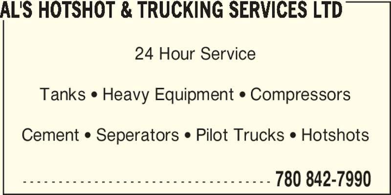 Al 39 s hotshot trucking services ltd wainwright ab 1 for 24 hour tanning salon near me