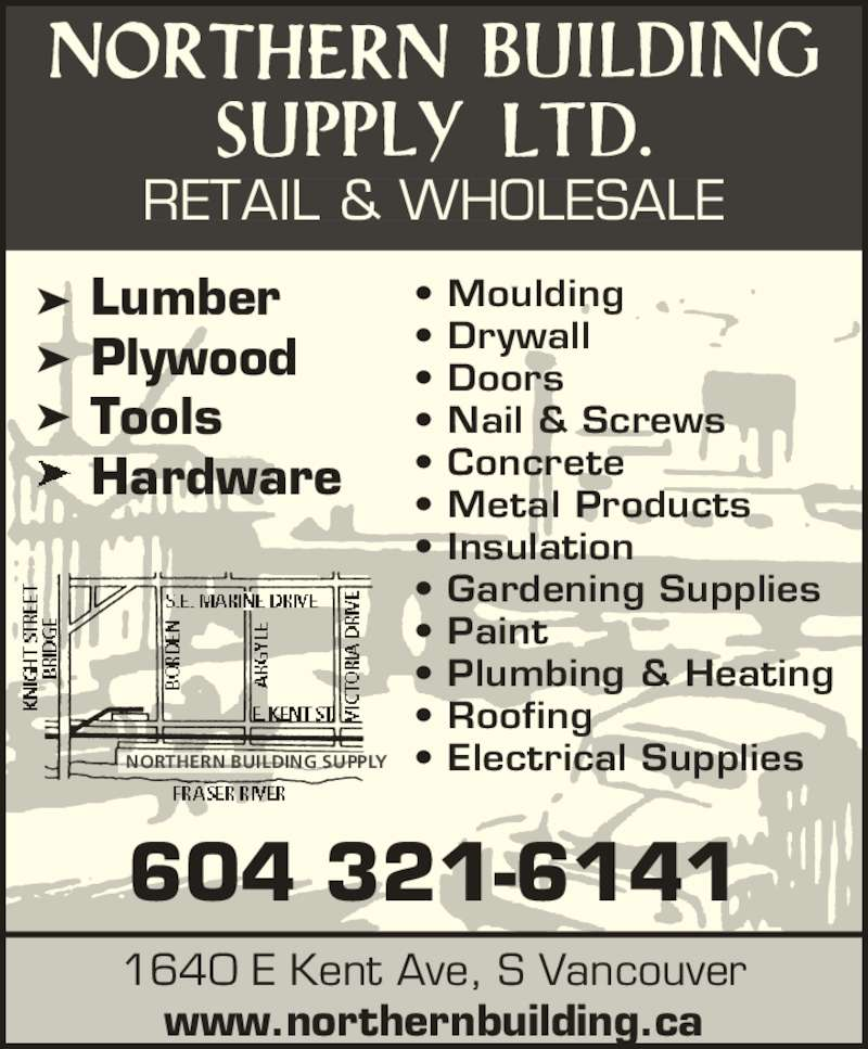 Northern Building Supply Ltd Opening Hours 1640 Kent