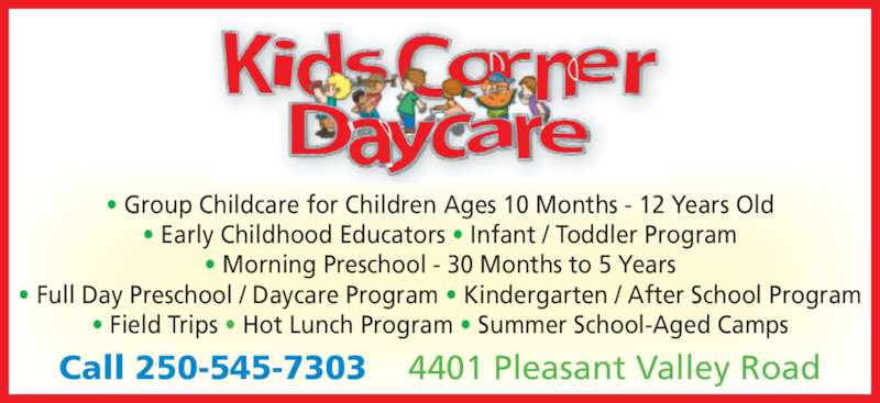 Kids Corner Daycare - Opening Hours - 4401 Pleasant Valley Rd ...
