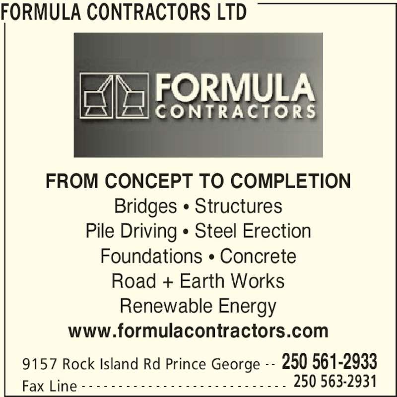 Formula Contractors Ltd