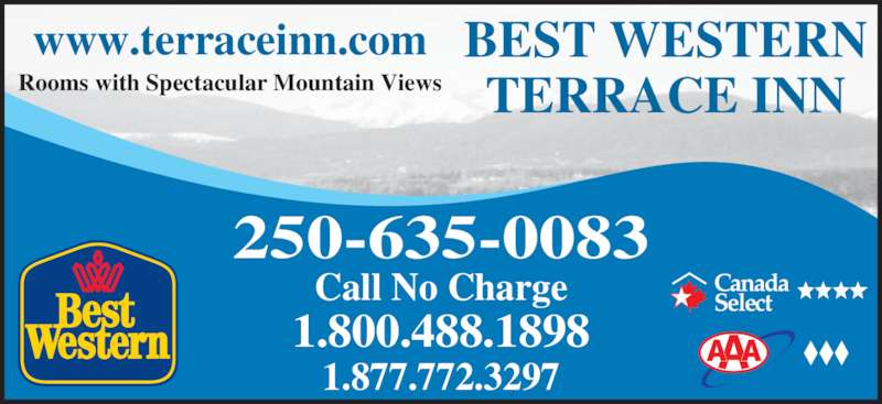 Best western terrace inn terrace bc 4553 greig ave for Best western terrace inn