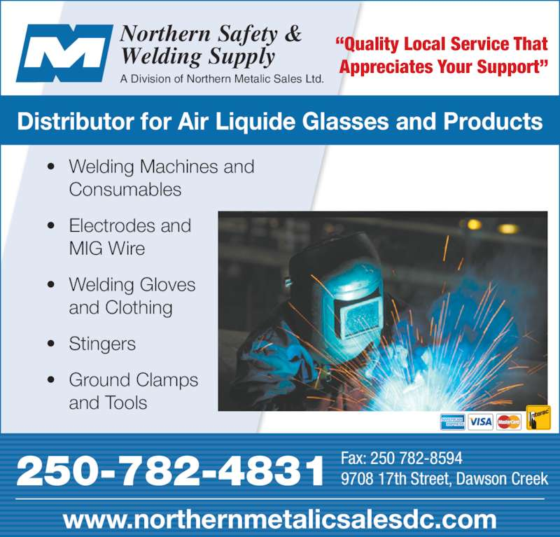 Northern Safety Amp Welding Supply Dawson Creek Bc 9708